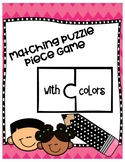 Puzzle Matching Color Words (PRINTABLE)