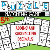 Puzzle Matching Game Adding & Subtracting Decimals