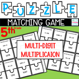 Puzzle Matching Game Multi-Digit Multiplication