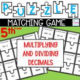 Puzzle Matching Game Multiplying & Dividing Decimals