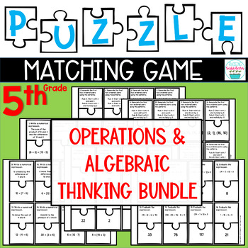 Puzzle Matching Game - NUMERICAL EXPRESSIONS & PATTERNS BUNDLE