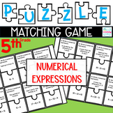 Puzzle Matching Game Numerical Expressions