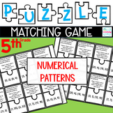 Puzzle Matching Game Numerical Patterns