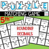 Puzzle Matching Game Rounding Decimals