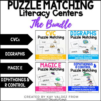 Puzzle Matching Literacy Center The Bundle