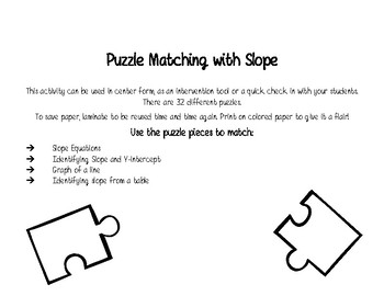 Puzzle Matching with Linear Equations