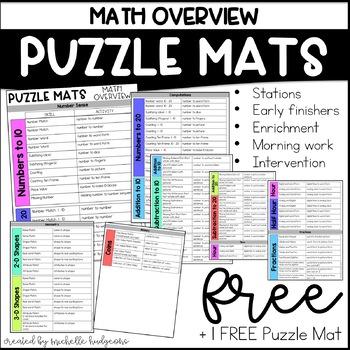 Puzzle Mats Math Overview + FREE Puzzle Mat