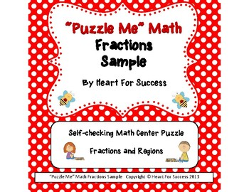 """""""Puzzle Me"""" Math Fractions Sample"""