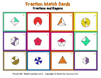 """Puzzle Me"" Math Fractions Set 1"