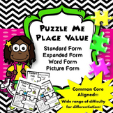 Puzzle Me Place Value {2nd Grade Common Core Aligned}