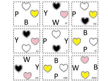Valentine's Day Puzzle Game Set, Math and Literacy
