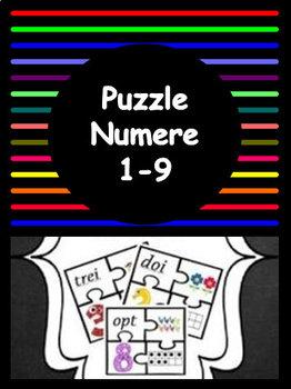 Puzzle Numere ( 1 - 9 ) -  limba romana