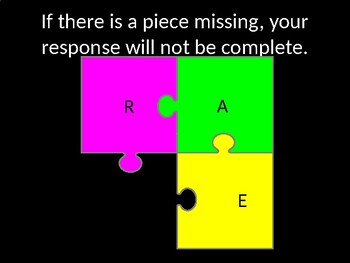 Puzzle Organizer for Constructed Responses