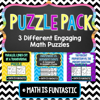 Puzzle Pack - Middle School Math