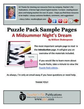 Puzzle Pack Sampler A Midsummer Night's Dream