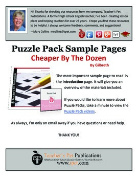 Puzzle Pack Sampler Cheaper By The Dozen