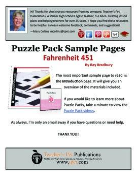 Puzzle Pack Sampler Fahrenheit 451