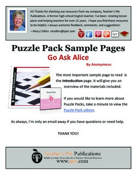 Puzzle Pack Sampler Go Ask Alice