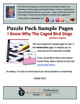Puzzle Pack Sampler I Know Why the Caged Bird Sings