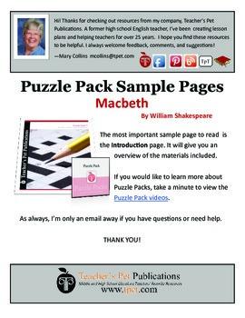 Puzzle Pack Sampler Macbeth