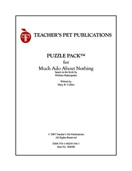 Puzzle Pack Sampler Much Ado About Nothing