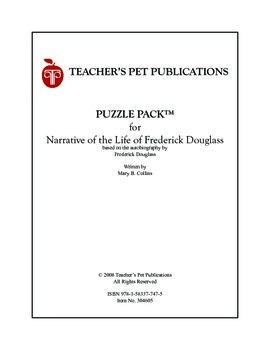 Puzzle Pack Sampler Narrative of Frederick Douglass