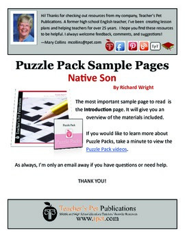 Puzzle Pack Sampler Native Son