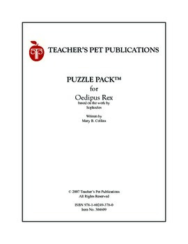 Puzzle Pack Sampler Oedipus Rex (Oedipus the King)