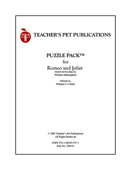 Puzzle Pack Sampler Romeo and Juliet