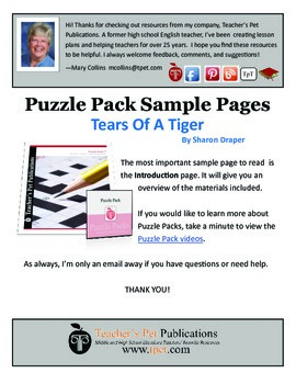 Puzzle Pack Sampler Tears of a Tiger