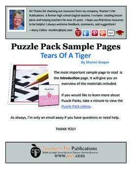 Puzzle Pack Sampler Tears of a Tiger