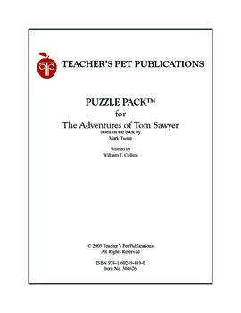 Puzzle Pack Sampler The Adventures of Tom Sawyer