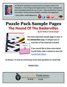Puzzle Pack Sampler The Hound of the Baskervilles