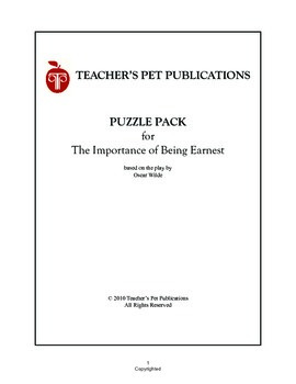 Puzzle Pack Sampler The Importance of Being Earnest