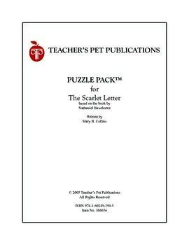 Puzzle Pack Sampler The Scarlet Letter
