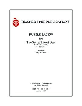 Puzzle Pack Sampler The Secret Life of Bees