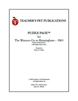 Puzzle Pack Sampler The Watsons Go To Birmingham 1963