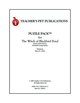 Puzzle Pack Sampler The Witch of Blackbird Pond