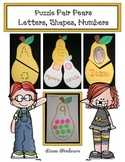 Puzzle Pair Pears Letters Numbers and Shapes
