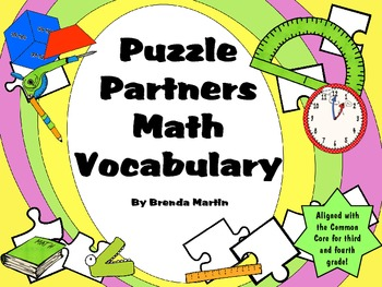 Puzzle Partners: Math Vocabulary