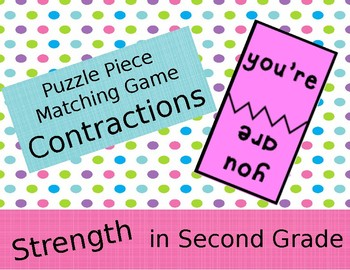 Puzzle Piece Center Activity - Contractions, Synonyms, Antonyms, Compound Word