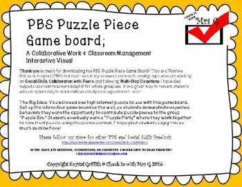 Puzzle Piece Incentive