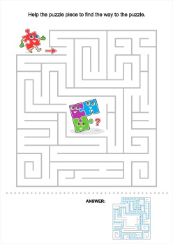 Puzzle Piece Maze, Commercial Use Allowed