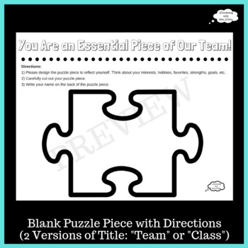 Puzzle Piece Mural for Team Building
