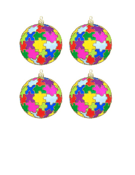 Puzzle Piece Ornaments with letters