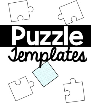 puzzle piece templates by ms knopf teachers pay teachers