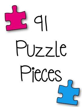 Puzzle Pieces #1 Clipart ~ Commercial Use OK