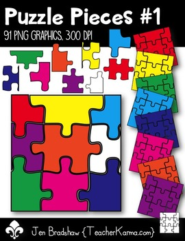 Puzzle Pieces #1 Clipart ~ Commercial Use OK