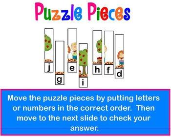 Piece Together Letters and Numbers Puzzle Fun