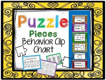 Puzzle Pieces Behavior Clip Chart